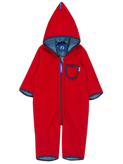 Finkid Puku Overall Kids Red/Denim